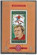 720 Manama 1972 Soccer Calcio Football Brasile Bobby Moore Monaco Munich 1974 Imperf. FIFA World Cup WEST HAM - Berühmte Teams