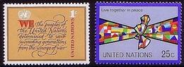 United Nations ONZ 1978 Mi 315, 316 Flags, Unity, Statute, Emblem UN. MHN** W935 - New York -  VN Hauptquartier