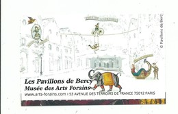 Ticket D' Entrée Musée Des Arts Forains Les Pavillon De Bercy Festival Du Merveilleux - Toegangskaarten