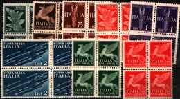 90473) ITALIA- Imperiale - POSTA AEREA - 1930 (12 Marzo) / 1932-MNH** IN QUARTINA - 1900-44 Vittorio Emanuele III