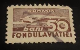 Airmail Romania 50bani, FONDUL AVIATIEI - Oblitérés