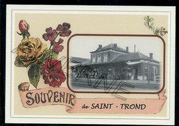 SAINT  TROND    -  SINT  TRUIDEN  .....  2 Cartes Souvenirs Gare ... Train  Creations Modernes Série Limitée - Sint-Truiden