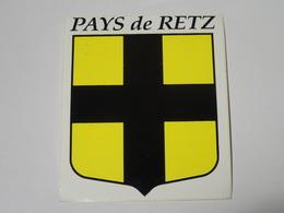 Blason écusson Adhésif Autocollant Pays De Retz Bretagne Loire Atlantique - Obj. 'Souvenir De'