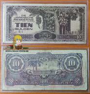 Indonesia 10 Gulden 1942 F - Indonésie