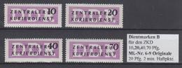 DDR 1956 Dienstmarken B Mi.-Nr. 6-9 Kpl. Satz 4 Werte */**  - [6] République Démocratique