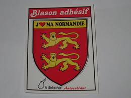 Blason écusson Adhésif Autocollant J'aime Ma Normandie - Obj. 'Souvenir De'