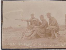 SERBIA,  KINGDOM OF YUGOSLAVIA   --  SERBIAN ARMY IN BOSNIEN  ~   MITRAILLEUSE  ~ 1930 ~      7,8 Cm X 6 Cm - Militaria