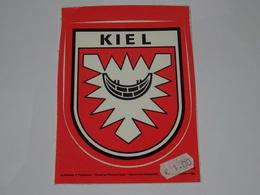 Blason écusson Adhésif Autocollant Carte Postale Kiel (Allemagne) - Obj. 'Souvenir De'