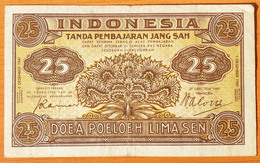 Indonesia 25 Sen 1947 VF - Indonésie