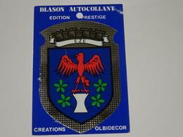 Blason écusson Adhésif Autocollant Eze (Alpes Maritimes) - Obj. 'Souvenir De'