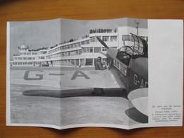 1938 LE BOURGET - Terrain D'aviation  - Coupure De Presse Originale (Encart Photo) - Documentos Históricos
