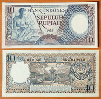 Indonesia 10 Rupiah 1958 UNC- - Indonésie