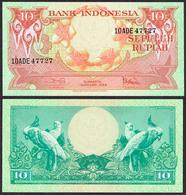 Indonesia 10 Rupiah 1959 UNC- - Indonésie