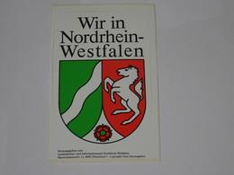 Blason écusson Adhésif Autocollant Nordrheim Westfalen - Obj. 'Souvenir De'