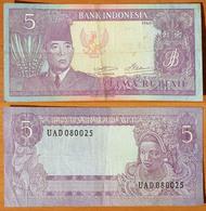 Indonesia 5 Rupiah 1960 VF Crispy - Indonésie