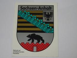 Blason écusson Adhésif Autocollant Sachsen Anhalt Aufkleber Wappen - Obj. 'Souvenir De'