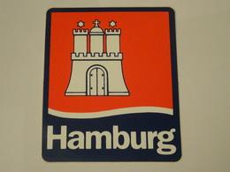 Blason écusson Adhésif Autocollant Hambourg Hamburg Aufkleber Wappen - Obj. 'Souvenir De'