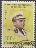 Congo 1961 100f MiN°73 2v (o) - Congo - Brazzaville