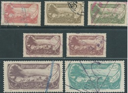 Lebanon - LIBANO 1927 Revenue Stamps 7 Value,used - Liban