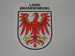 Blason écusson Adhésif Autocollant Land Brandenburg Aufkleber Wappen - Obj. 'Souvenir De'