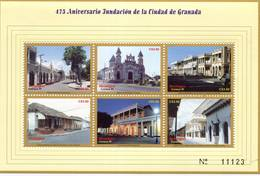 Lote 2314, Nicaragua, 1999, Pliego, Sheet, City Of Granada, Church, Lion House - Nicaragua