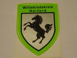 Blason écusson Adhésif Autocollant Wittekindskreis Herford Aufkleber Wappen - Obj. 'Souvenir De'
