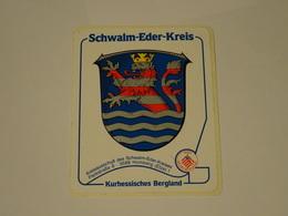 Blason écusson Adhésif Autocollant Scwalm Eder Kreis Aufkleber Wappen - Obj. 'Souvenir De'