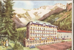 439/FG/19 - ALBERGHI - GRESSONEY LA TRINITE' (AOSTA): Grand Hotel Busca Thedy (illustratore Non Identicato) - Italia
