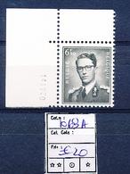 BELGIUM COB 1069a MNH - 1953-1972 Glasses