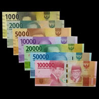 Indonesia Complete Set Of Banknotes 2016 UNC - Indonesia