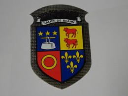 Blason écusson Adhésif Autocollant Salies De Béarn (Pyrénées Atlantiques) - Obj. 'Souvenir De'