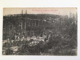 CP La Guerre En Lorraine 1914 - 1918 - La Chapelotte Et Son Cimetiere - Cimetières Militaires