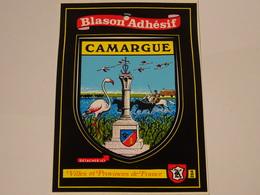 Blason écusson Adhésif Autocollant Camargue - Obj. 'Souvenir De'