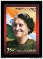 Russia 2017 Mih. 2479 Prime Minister Of India Indira Gandhi MNH ** - Unused Stamps
