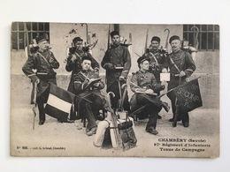 CP Chambery Savoie 97 97e Regiment D'infanterie Tenue De Campagne Phot L.Crimal Uniform Soldats Soldat Militaire - Régiments