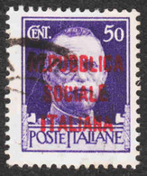 Italy - Italian Socialist Republic - Scott #3 Used - 4. 1944-45 Social Republic
