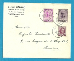 195+342+343 (Mercier) Op Brief Stempel LIEGE - Belgium