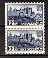 FRANCE 1941 - PAIRE / Y.T. N° 490  - NEUFS** - France