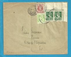 192+335+340  Op Brief Stempel BRUXELLES Op Herbruikte Brief - 1932 Ceres And Mercurius