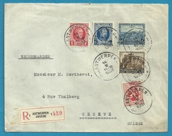 206+256+282+309+313 (tuberculose) Op Brief Aangetekend Stempel ANTWERPEN 1 - Belgium