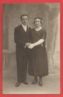 """C.P.A. """" Photo """" Couple De Jeunes Mariés Très Jolie Carte  X 2 Phot. - Couples"""