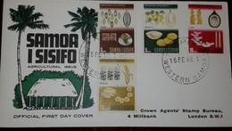 L) 1968 SAMOA, AGRICULTURAL DEVELOPMENT, COCOA, BANANAS, COCONUT, PALM, NATURE, FDC - Samoa