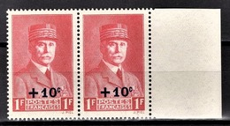 FRANCE 1941 - PAIRE Y.T. N° 494 - NEUFS** - France