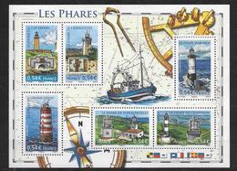 France 2007 Bloc Feuillet 114 Neuf Phares à La Faciale - Bloc De Notas & Hojas