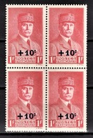 FRANCE 1941 - BLOC DE 4 TP  Y.T. N° 494 - NEUFS** - France