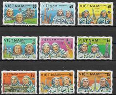 VIETNAM   1983 GIORNATA DELL'ASTRONAUTICA YVERT. 411-419 USATA VF - Vietnam