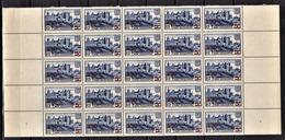 FRANCE 1941 - BLOC DE 25 TP / Y.T. N° 490  - NEUFS** - France