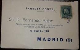 L) 1924 CUBA, JOSE MARTI, 1C, GREEN, POSTCARD, TO SPAIN - Cuba