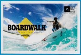"CPM Publicitaire SPORT SURF : BOARDWALK ""The Surfer's Walkshort"" RIP CURL - Postcards"