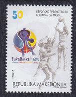 Macedonia 2015 European Basketball Championship For Men, MNH (**) Michel 737 - Mazedonien